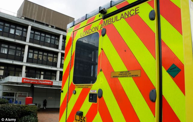 Diversions: Ambulances were turned away and sent to other hospitals no fewer than 357 times in 2012/13 - up almost a quarter on the previous year