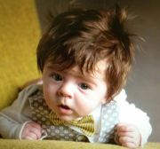 baby 'epic hair' contest winner's