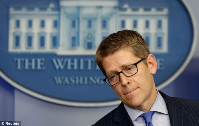 Flummoxed: White House Press Secretary Jay Carney has foudn himself behind the eight-ball as the Obama administration struggles to explain how it could possibly have been in the dark about IRS abuses