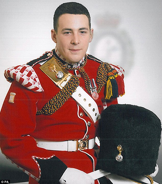 Tragic: Drummer Lee Rigby died in the street as he walked back to his barracks in Woolwich