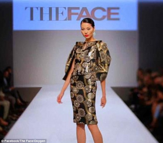 Striking: Luo Zilin appeared on Naomi Campbell's TV show, The Face, earlier this year. She was the last standing member of Team Naomi and finished as runner-up.