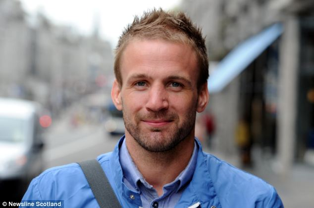 Duped: Nick Smith, pictured, spent weeks comforting his partner Linsey Attridge after she told him that she was attacked and raped by strangers in their home while he was out