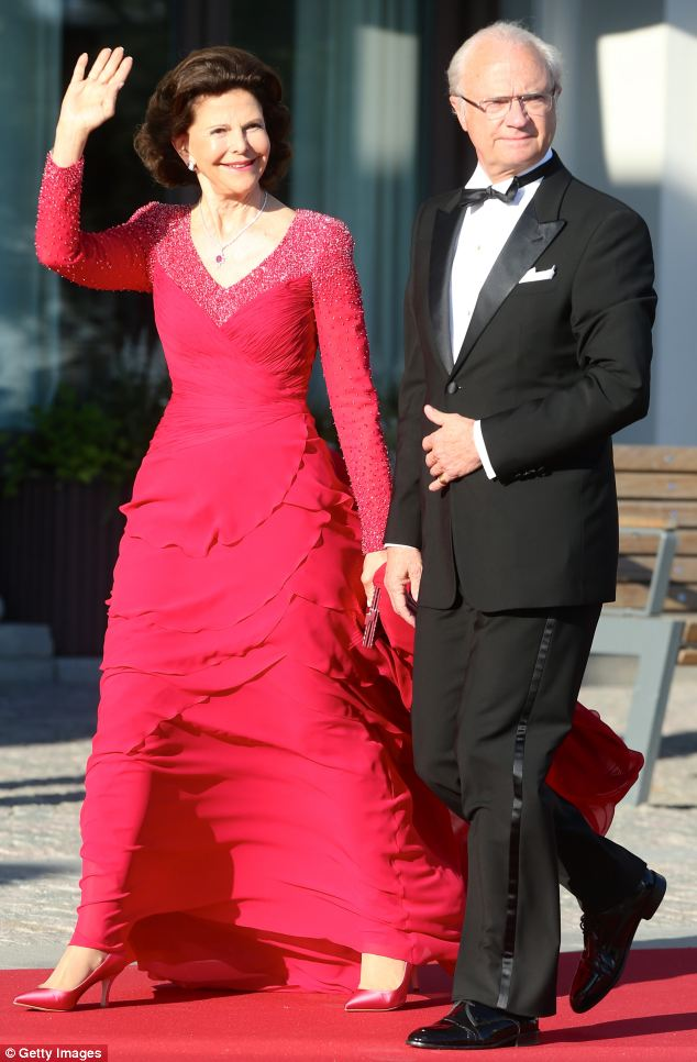 Queen Silvia of Sweden and King Carl XVI Gustaf of Sweden threw the lavish dinner for their daughter, who will wed today