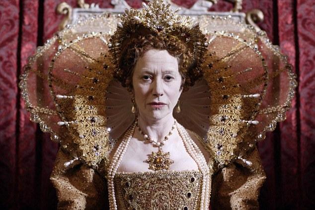 Helen Mirren representado como Elizabeth I en una miniserie de Channel Four