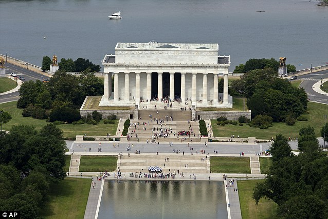 Lincoln Memorial: The President is remembered as one of America's greatest, leading the country through the American Civil War, abolishing slavery, strengthening the national government and modernizing the economy