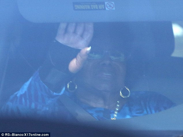 Turmoil: Grandmother Katherine Jackson was sporting a support on her wrist as she headed to the hospital on Friday