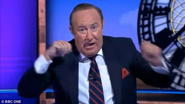 Astonished: Veteran broadcaster Andrew Neil labelled Mr Jones as 'the worst person I've ever interviewed'