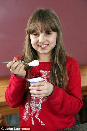 ... made with milk, Molly was eventually able to overcome her allergy
