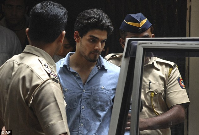 Suraj Pancholi, the son of Bollywood stars Aditya Pancholi and Zarina Wahab leaves court following his arrest on suspicion of abetting the suicide of his girlfriend, actress Jiah Khan