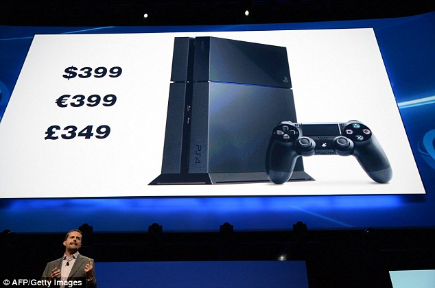The info: CEO Andrew House announces the pricing for the new PlayStation 4 at the Sony E3 2013 press conference in Los Angeles