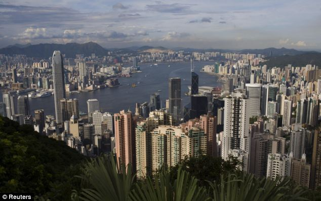 Hiding place: Snowden is in Hong Kong, pictured, but his exact whereabouts are unknown