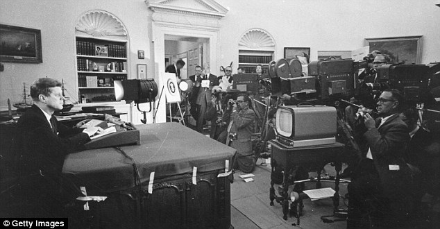 Tradition: Secret meetings with the press have been a feature of the White House since John F Kennedy's days