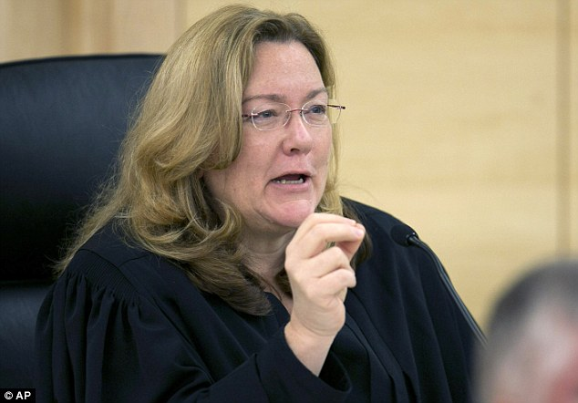 Court hearing: Chief Justice Leigh Sauffley of the Maine Supreme Court, speaks during the hearing of arguments over a school district's handling of Nicole Maine's restroom needs