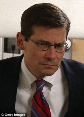 Departing and arriving: Michael Morell, left, will step down as CIA Deputy Director while White House lawyer Avril D. Haines, right, will take his place