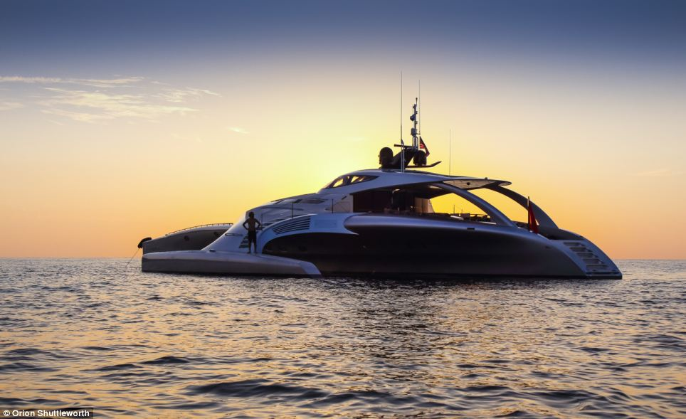 The yacht has been described by Boat International as 'one of the world's most amazing super yachts, that could spell the future for efficient long range cruising'