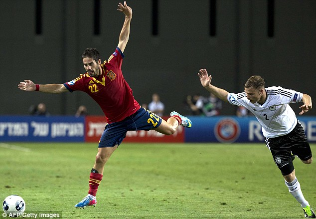 Star man: Isco has shone for Spain at the European Under 21 Championship