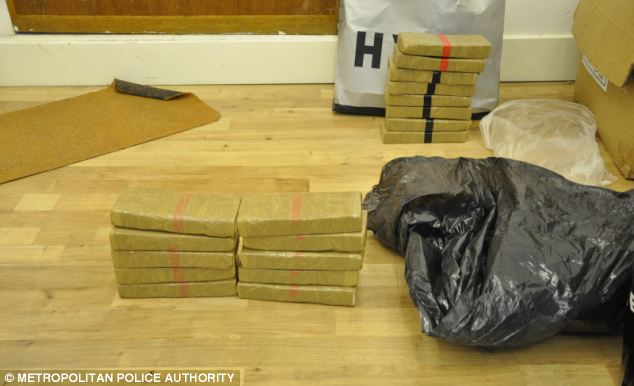Drugs were stashed in a rented flat conveniently located in the same block as Desmangles' home in Canary Wharf, east London, and also at Davis' home in Chingford, east London