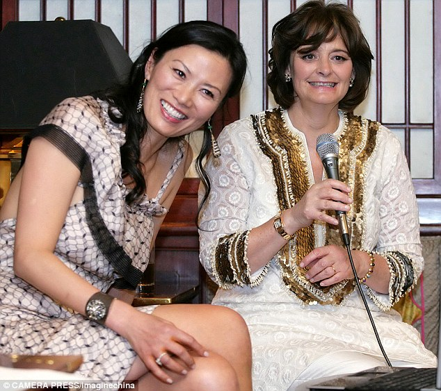 Friends: Wendi Deng and Cherie Blair in Beijing in 2009