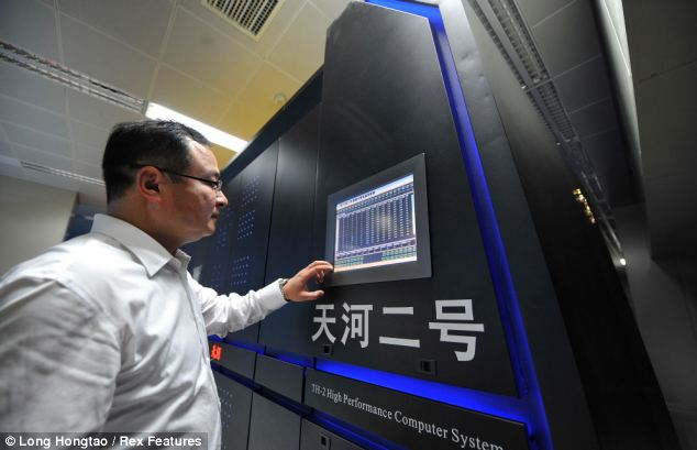 The Chinese said it intends to install the Tianhe-2 equipment at the National Supercomputer Centre in Guangzhou, China where it will be used for 'research and education'.