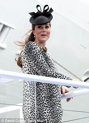 The event showed how heavily pregnant Kate is despite her loose jacket