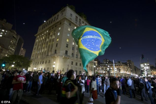 Thousands of Brazilians took to the streets to voice their anger