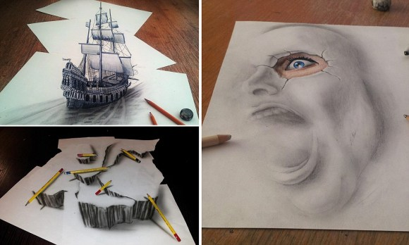 The pictures that draw you in... Amazing 3D sketches that ...