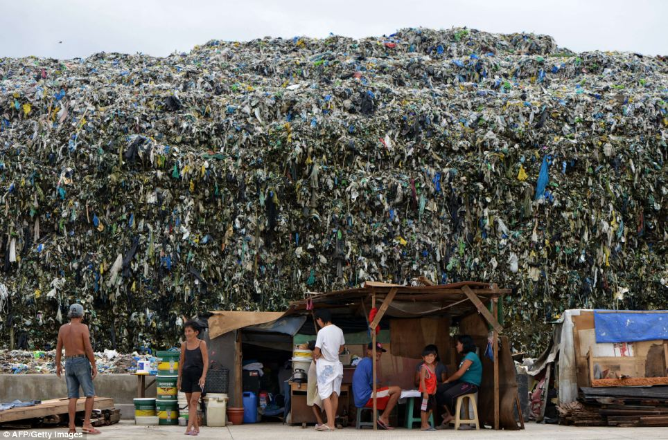 A 25ft-high tidal wave of rubbish: