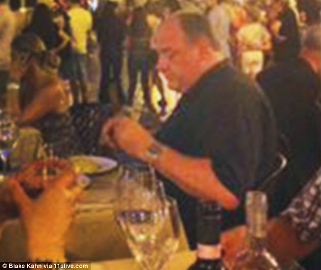 At ease: Witnesses said Gandolfini appeared to be enjoying dinner and the 'magical atmosphere'