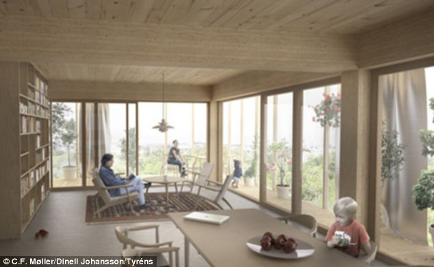 Solar panels will power the building, and each apartment will come with a glass-covered verandah