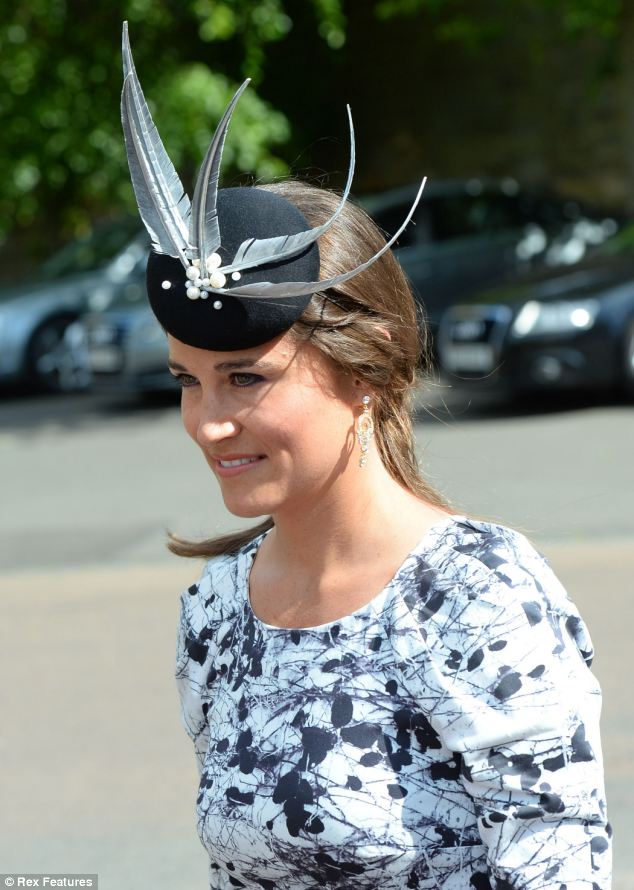 Pippa Demure In Peplum Dress As She Arrives At Society