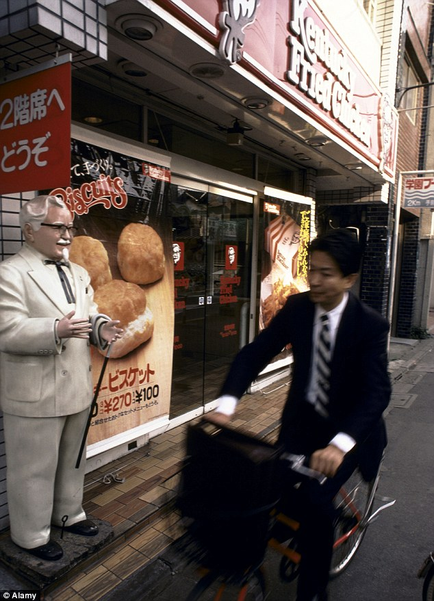 Memorabilia: The Colonel's suit will go on display at a Tokyo KFC after being bought at auction in Dallas
