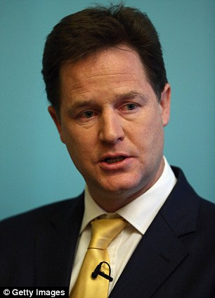 Free choice: Liberal Democrat leader Nick Clegg has said people should be able to choose their own solicitor