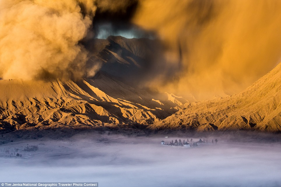 Temple At The Foot of Mount Bromo: