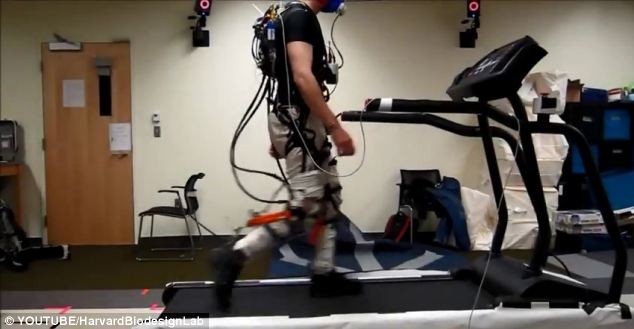 Experts at Harvard University's Wyss Institute have developed a lightweight exoskeleton called the Exosuit.