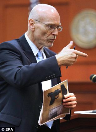 Making an impression: Don West was first introduced to much of America on Monday when he gave the opening statement in the George Zimmerman murder trial