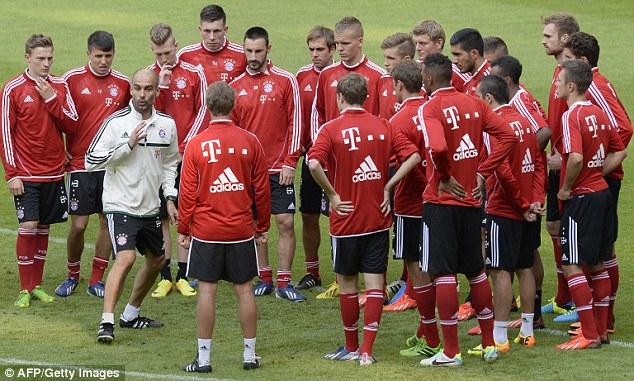 Pep Guardiola training session