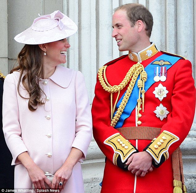 In labour: The Duke and Duchess of Cambridge, pictured together for the last time publicly last month, will soon become parents as Kate has been taken to hospital as she went into labour