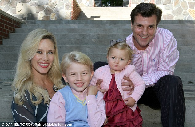 Socialite family from left: Michelle-Marie Heinemann, Hudson Cornelius, Hyacinth Cornelia and father Jon Heinemann who are suing the Cathedral School of St John the Devine