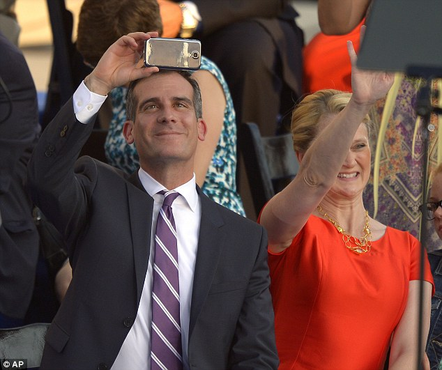 Different mix: Garcetti becomes the city's first elected Jewish mayor, and his background reflects the city's diversity: he often refers to his Italian and Mexican roots