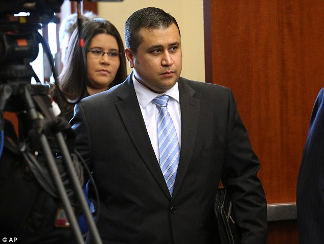 Defendant: George Zimmerman arrives for the beginning of the second week of testimony at his trial on Monday, July 1, 2013