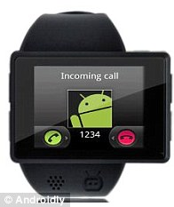 Wearers can also make and receive phone calls on the Androidly device