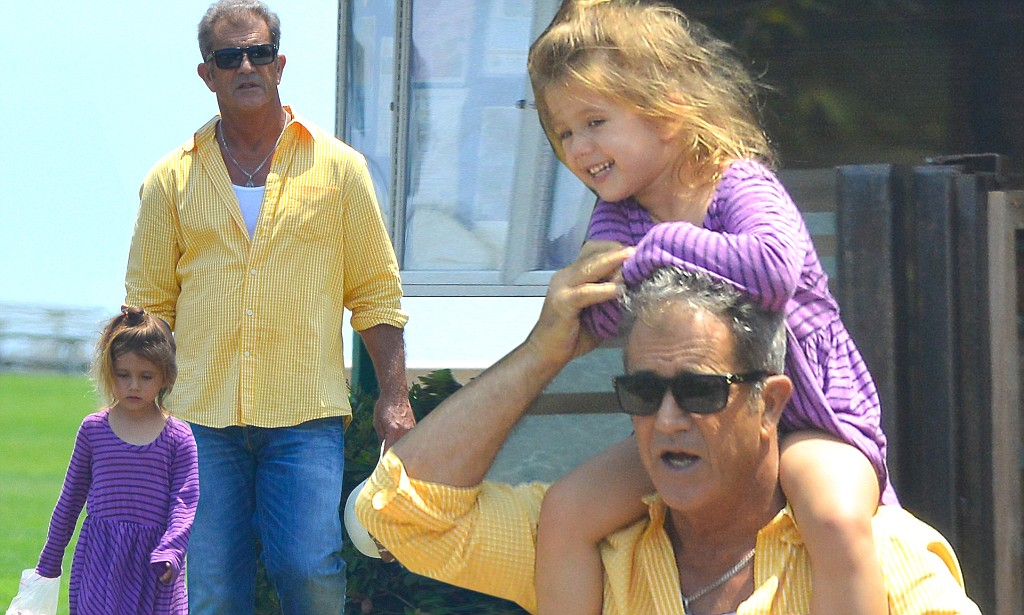 Mel Gibson shows his soft side as he enjoys an afternoon at the park with daughter Lucia  Daily