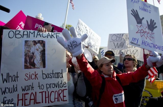 People on both sides of the national health care debate protested - often in close proximity - in front of the Supreme Court in 2012