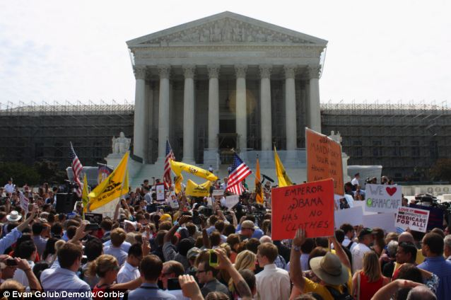Tea party groups had a large presence in Washington on June 28, 2012 as the nation's highest-ranking jurists prepared to announce the decision that legitimized Obamacare in federal law