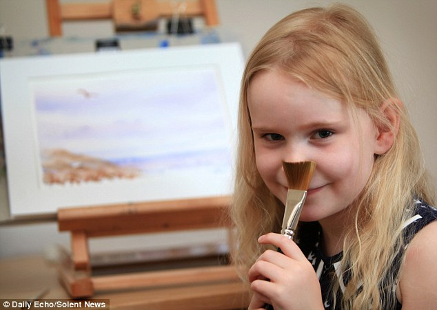 But the little girl has still not lost her sense of fun. Mr Hankins said Heidi, loved school, but like most five-year-olds is still more interested in play than work