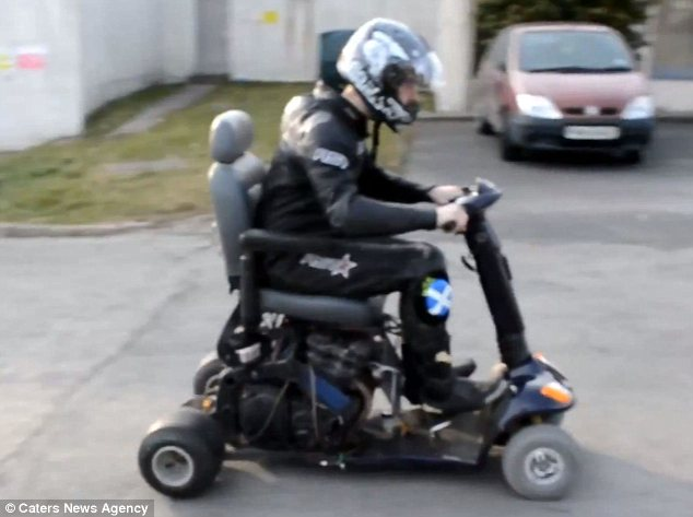 Watch the worlds fastest mobility scooter as it reaches a