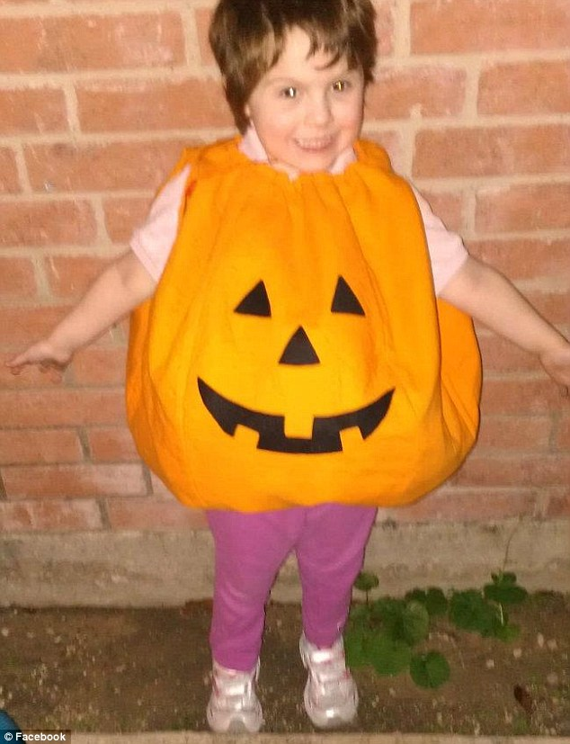 Perfect pumpkin: Alanna's father Karl Gallagher posted dozens of adoring photos of his daughter, and all his children, on his Facebook page