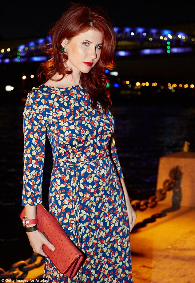 Perfectly matched: Russian spy turned fashionista Anna Chapman has asked NSA leaker Ed Snowden to marry her, via a tweet Wednesday