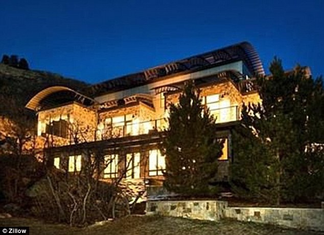 Lavish lifestyle: The address in Castle Rock, Colorado, listed for Shryock is for a 4-bedroom, 6-bath mansion valued at just under $2million