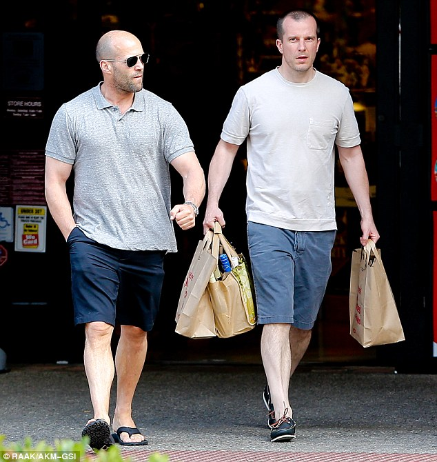 Jason Statham And Friend Stock Up On Booze Ahead Of